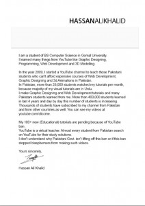 Hassan K Letter