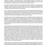 Shakir Hussain Letter