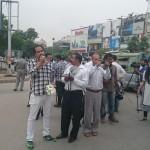 Syed Ahmed of P@SHA addresses demonstrators.